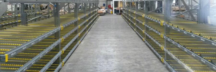Palletstelling met doorrolstelling/Flowracks GS-Hydro