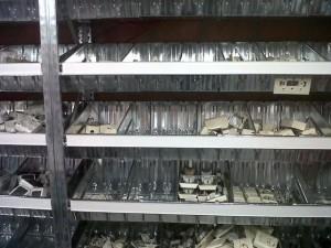 Metalsistem unirack legbordstelling scanprofiel