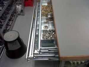 Metalsistem werktafel lade