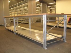 Metalsistem werktafel C-dur bovenblad